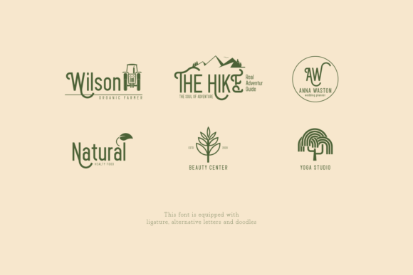 Print on Demand: Agron Display Font By Line creative - Image 8