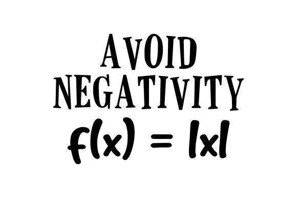 Avoid Negativity Motivational Craft Cut File By Creative Fabrica Crafts
