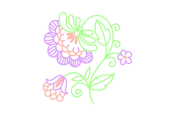 Decorative Outline Flower Spring Craft Cut File By Creative Fabrica Crafts - Image 1