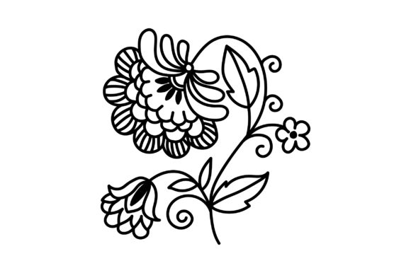 Decorative Outline Flower Spring Craft Cut File By Creative Fabrica Crafts - Image 2