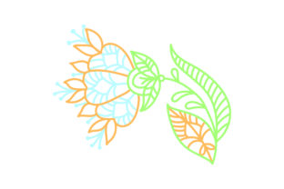 Outline Flower Spring Craft Cut File By Creative Fabrica Crafts
