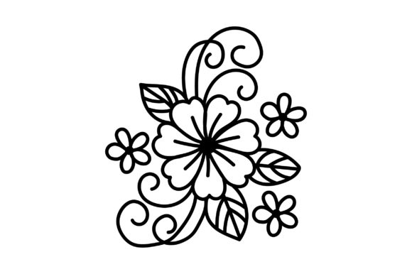 Download Free Purple Outline Flower Svg Cut File By Creative Fabrica Crafts for Cricut Explore, Silhouette and other cutting machines.