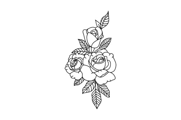 Download Free Victorian Valentine Outline 3 Roses Svg Cut File By Creative for Cricut Explore, Silhouette and other cutting machines.