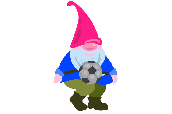 Soccer Gnome Sports Craft Cut File By Creative Fabrica Crafts