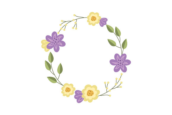 Flower Wreath Summer Craft Cut File By Creative Fabrica Crafts