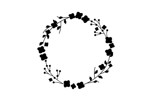 Download Free Flower Wreath Svg Cut File By Creative Fabrica Crafts Creative SVG Cut Files