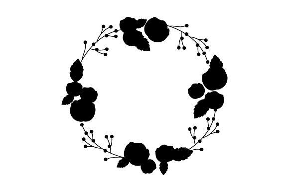 Download Free Flower Wreath Svg Cut File By Creative Fabrica Crafts Creative for Cricut Explore, Silhouette and other cutting machines.