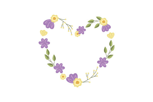 Heart-shaped Flower Wreath Summer Craft Cut File By Creative Fabrica Crafts