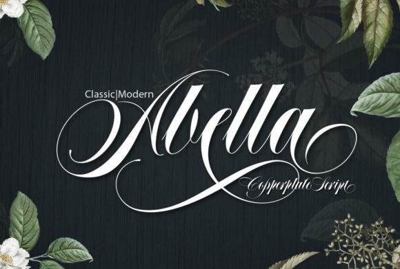 Print on Demand: Abella Script & Handwritten Font By joelmaker