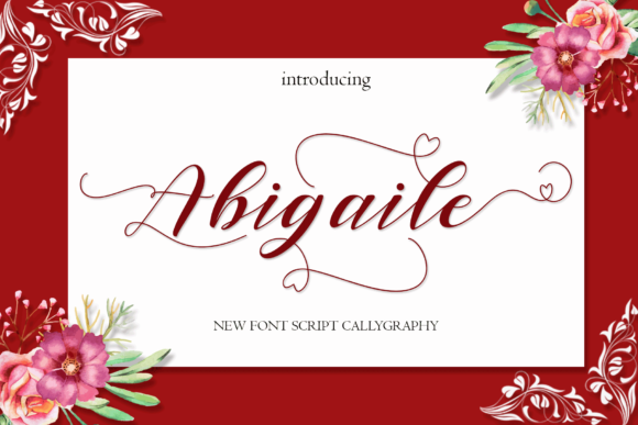 Print on Demand: Abigaile Script & Handwritten Font By MYdesign