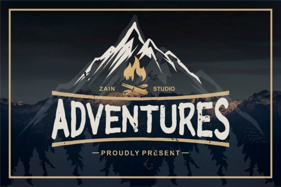 Print on Demand: Adventures Display Schriftarten von zainstudio
