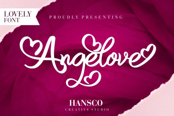 Print on Demand: Angelove Script & Handwritten Font By HansCo