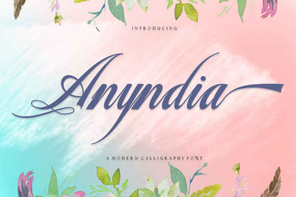 Print on Demand: Anyndia Script & Handwritten Font By Family Creative