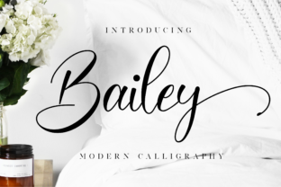 Print on Demand: Bailey Script & Handwritten Font By NissaStudio