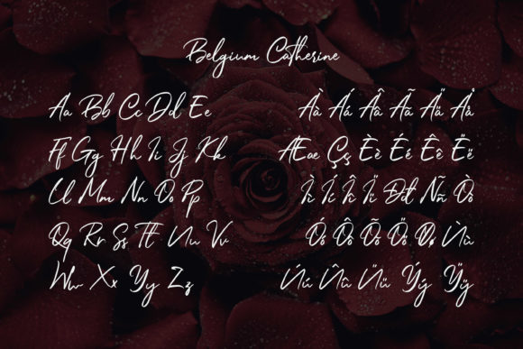 Print on Demand: Belgium Catherine Script & Handwritten Font By almarkhatype - Image 10