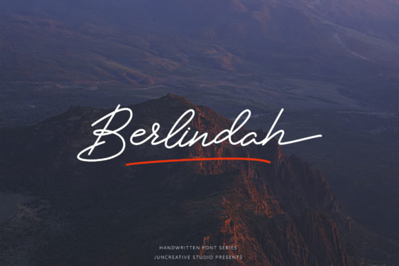 Print on Demand: Berlindah Script & Handwritten Font By Juncreative