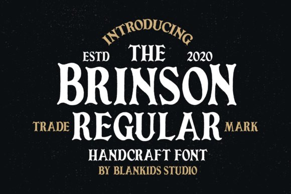 Print on Demand: Brinson Regular Serif Fuente Por Blankids Studio