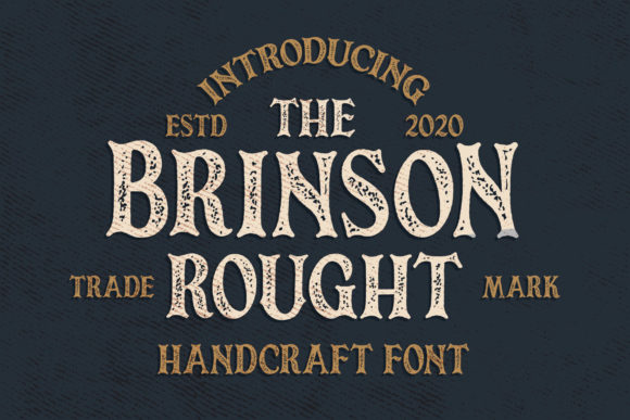 Print on Demand: Brinson Rought Serif Font By Blankids Studio - Image 1
