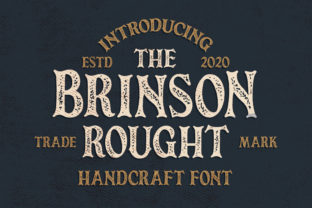 Print on Demand: Brinson Rought Serif Font By Blankids Studio