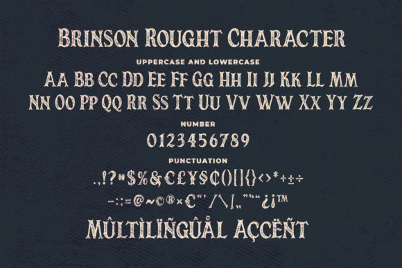 Print on Demand: Brinson Rought Serif Font By Blankids Studio - Image 6