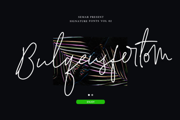 Print on Demand: Bulqeusfertom Script & Handwritten Font By Semar
