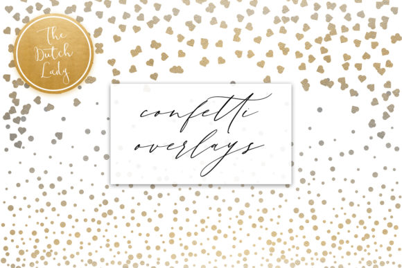 Print on Demand: Confetti & Decoration Clipart Set Graphic Illustrations By daphnepopuliers - Image 5