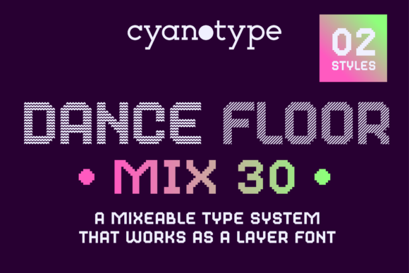 Print on Demand: Dance Floor Color Fonts Font By cyanotype - Image 1