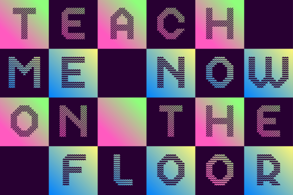 Print on Demand: Dance Floor Color Fonts Font By cyanotype - Image 8
