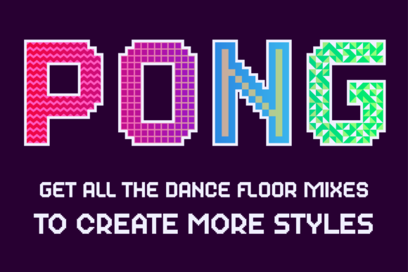 Print on Demand: Dance Floor Color Fonts Font By cyanotype - Image 9