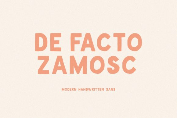 Print on Demand: De Facto Zamosc Sans Serif Font By Sameeh Media