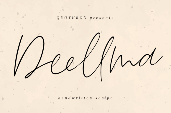 Print on Demand: Deellma Script & Handwritten Font By it_was_a_good_day