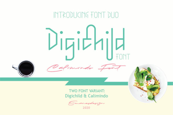 Print on Demand: Digichild Duo Script & Handwritten Font By emanesdsign