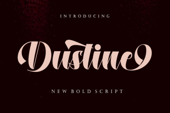 Print on Demand: Dustine Script & Handwritten Font By letterfreshstudio