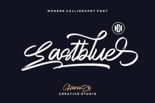 Print on Demand: Eastblue Display Font By HansCo
