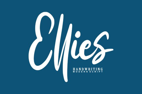 Print on Demand: Ellies Script & Handwritten Font By Vunira