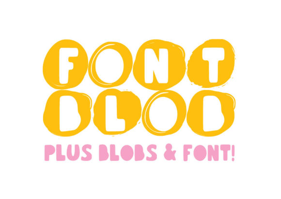 Print on Demand: Font Blob Display Font By GraphicsBam Fonts