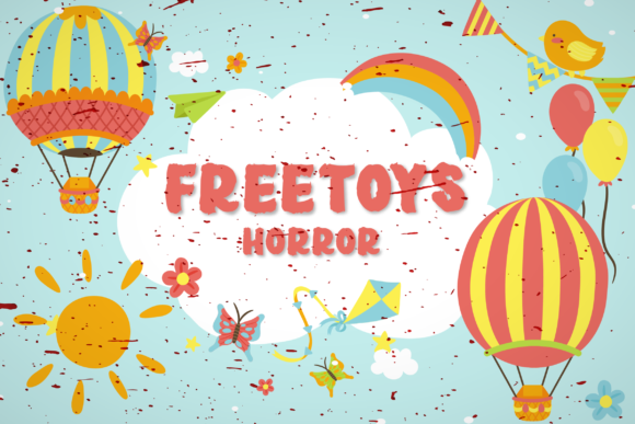 Print on Demand: Freetoys Horror Display Font By GulioStudio
