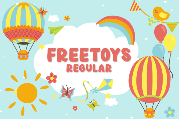 Print on Demand: Freetoys Regular Display Schriftarten von GulioStudio