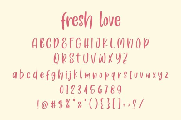Print on Demand: Fresh Love Script & Handwritten Font By goodjavastudio - Image 8