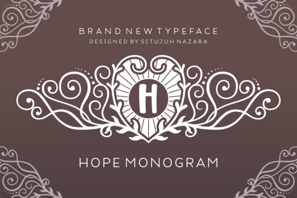 Print on Demand: Hope Monogram Decorative Font By Situjuh - Image 1