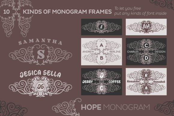 Download Free Hope Monogram Font By Situjuh Creative Fabrica for Cricut Explore, Silhouette and other cutting machines.