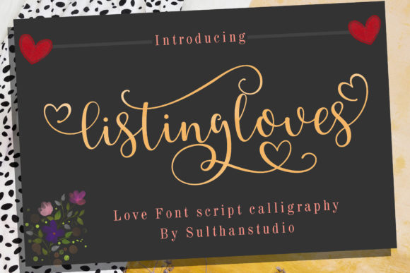 Print on Demand: Listing Loves Script & Handwritten Font By Sulthan Studio - Image 1