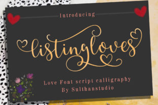 Print on Demand: Listing Loves Script & Handwritten Font By Sulthan Studio