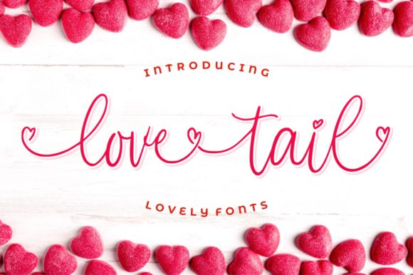 Print on Demand: Love Tail Script & Handwritten Font By goodjavastudio