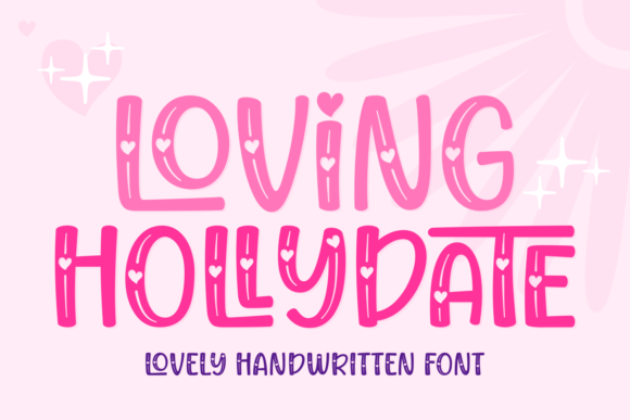 Print on Demand: Loving Hollydate Script & Handwritten Font By Situjuh - Image 1