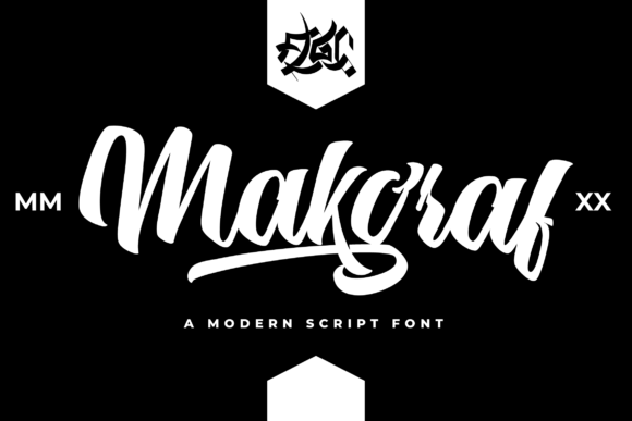 Print on Demand: Makgraf Script & Handwritten Font By Fallengraphic