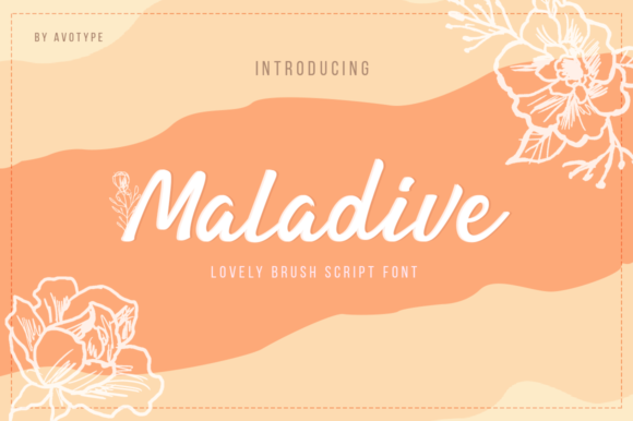 Print on Demand: Maladive Script & Handwritten Font By Avotype