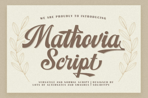 Print on Demand: Mathovia Script Script & Handwritten Font By Solidtype