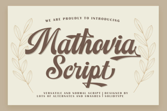 Print on Demand: Mathovia Script Script & Handwritten Font By Solidtype - Image 7