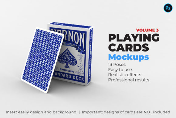 Playing Card Mockups Graphic Product Mockups By illusiongraphicdesign